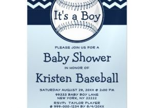 Baby Shower Magnet Invitations Baseball Blue Chevron Its A Boy Baby Shower Magnetic