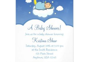 Baby Shower Magnet Invitations Blue Cloud Boy Baby Shower Magnetic Invitations