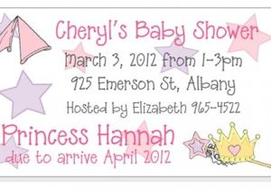 Baby Shower Magnet Invitations Princess theme Baby Shower Invitation Magnets and Cards