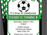 Baby Shower soccer Invitations Free soccer themed Birthday Party Invitations