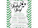 Baby Shower soccer Invitations Modern Chevron It S A Baby Boy soccer Baby Shower 5×7