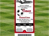 Baby Shower soccer Invitations soccer Baby Shower Invitation