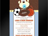 Baby Shower Sports Invitations 20 Jungle Sports themed Baby Shower or by Littlebeesgraphics