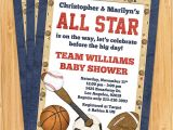 Baby Shower Sports Invitations All Star Sports Baby Shower Invitation by eventfulcards