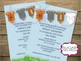 Baby Shower Sports Invitations Sports Baby Shower Invitation Light Blue with