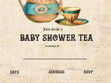 Baby Shower Tea Party Invitations Free Free Printable Tea Party Baby Shower Invitation Template