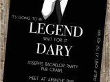 Bachelor Party Invites Funny Bachelor Party Invite Legendary Himym