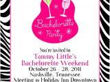 Bachelorette Party Invitation Examples Zebra Print Bachelorette Party Invitation Card Sample