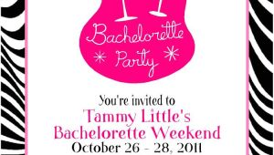 Bachelorette Party Invitation Examples Zebra Print Bachelorette Party Invitation Card Sample