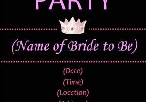 Bachelorette Party Invitation Templates Microsoft Bachelorette Invitations Template Best Template Collection