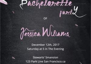 Bachelorette Party Invitation Templates Microsoft Chalkboard Bachelorette Party Invitation Design Template