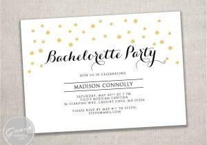 Bachelorette Party Invitation Templates Microsoft Printable Gold Black Bachelorette Party Invite Template Gold