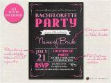 Bachelorette Party Invites Online Items Similar to Bachelorette Invitation Chalkboard