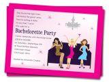 Bachelorette Party Invites Wording Printable Bachelorette Party Invitations Girls by