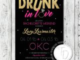 Bachlorette Party Invitations Beyonce themed Bachelorette Invitation Drunk In Love