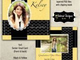 Back Of Graduation Invitation Instant Download Graduation Announcement Psd One 5×5