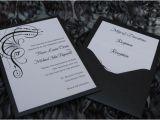 Back Pocket Wedding Invitations Glitz and Glam Back Pocket Card Invitation Elegant