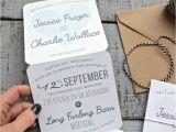 Back Pocket Wedding Invitations Pocket Wedding Invitation Kits Simple and Stylish Design