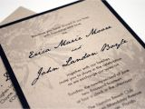 Back Pocket Wedding Invitations Rustic Wedding Invitation Navy Blue Sunflower with Back