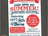 Back to School Pool Party Invitation Back to School End Of Summer Party Invitation