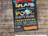 Back to School Pool Party Invitation Back to School Pool Party Invitation Pool Party Splash Bash