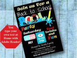 Back to School Pool Party Invitation Back to School Pool Party Invitation Printable by byministore