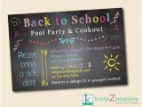 Back to School Pool Party Invitation Pin by Allison Porretto On Girls Pinterest
