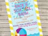 Back to School Pool Party Invitation Pool Party Invitation Piy File Back to School Party