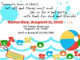 Back to School Pool Party Invitation Printable Back to School Pool Party Invite by Luvbugdesign