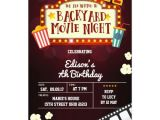 Backyard Movie Party Invitation Backyard Movie Night Birthday Party Invitation Zazzle Com Au