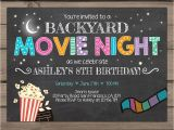 Backyard Movie Party Invitation Movie Night Birthday Invitation Under the Stars Invitation