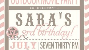 Backyard Movie Party Invitation Movie Party Outdoor Movie Invitation