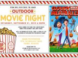 Backyard Movie Party Invitation Outdoor Movie Night Invitation Template Outdoor