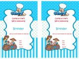 Baking Birthday Party Invitations Free Cooking and Baking Birthday Invitations Birthday Printable