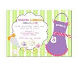 Baking Birthday Party Invitations Free Items Similar to Printable Party Invitation Cookie