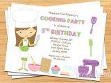 Baking Birthday Party Invitations Free Kids Baking Birthday Party Invitation Printable