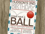 Ball themed Birthday Party Invitations 25 Best Ideas About 2nd Birthday Invitations On Pinterest