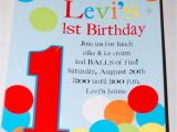 Ball themed Birthday Party Invitations Ball themed Party Invitation 1st Birthday Pinterest