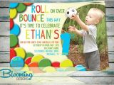 Ball themed Birthday Party Invitations Have A Ball Party Invite with Photo by Bloomingdesignprints