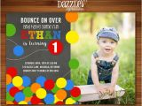 Ball themed Birthday Party Invitations Printable Bouncy Ball Chalkboard Birthday Invitation
