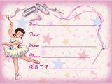 Ballerina Birthday Invitations Free Ballerina Birthday Invitations Ideas – Bagvania Free