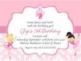 Ballerina Birthday Invitations Free Ballerina Birthday Printable Invitation Dance Invitation
