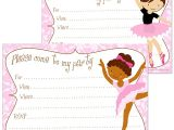Ballerina Birthday Invitations Free Free Printable Ballerina Party Invitations