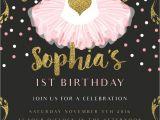 Ballerina Birthday Invitations Free Pink Ballerina Birthday Invitation Glitter and Gold