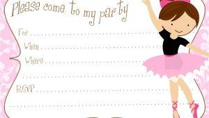Ballerina Birthday Invitations Free Printable Free Diy Ballerina Party Invitations