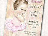 Ballerina Party Invites Ballerina Birthday Ballerina Invitation First Birthday