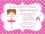 Ballerina Party Invites Ballerina Birthday Invitations Ideas Bagvania Free