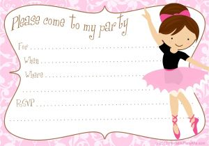 Ballerina Party Invites Free Printable Party Invitations Printable Free Ballerina