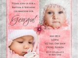 Baptism and Birthday Party together Invitation Baptism and Birthday Party to Her Invitation