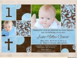 Baptism and First Birthday Invitations Chic Baptism or Christening Invitation Baby S S Cross